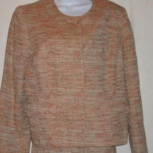 Le Suit 2-pc suit skirt & jacket linen blend 14